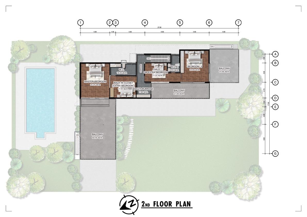 Chiang Mai Private Villa   2nd Floor Plan