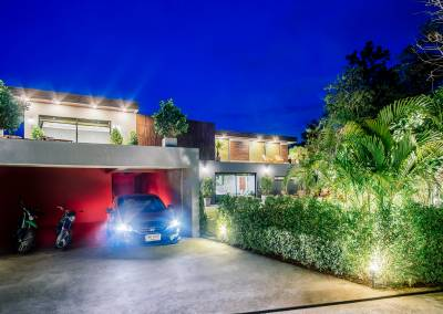 Chiang Mai Luxury Villas Garage at Night