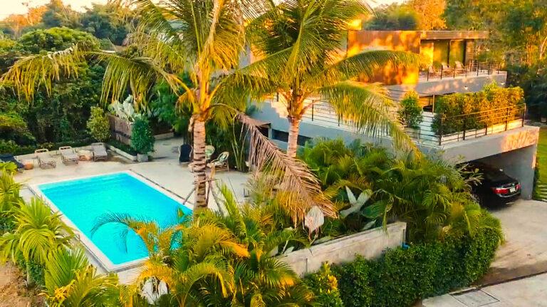 Natural Villas _ Chiang Mai Pool Villa _ Drone Daytime Photo